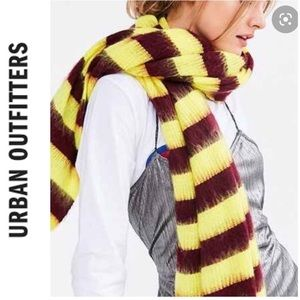 NWT Urban Outfitters Yellow & Maroon Strip…